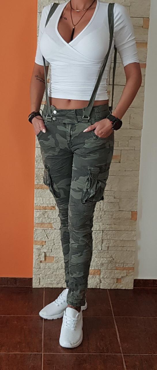 fa237cf542bc Dámske maskáčové nohavice