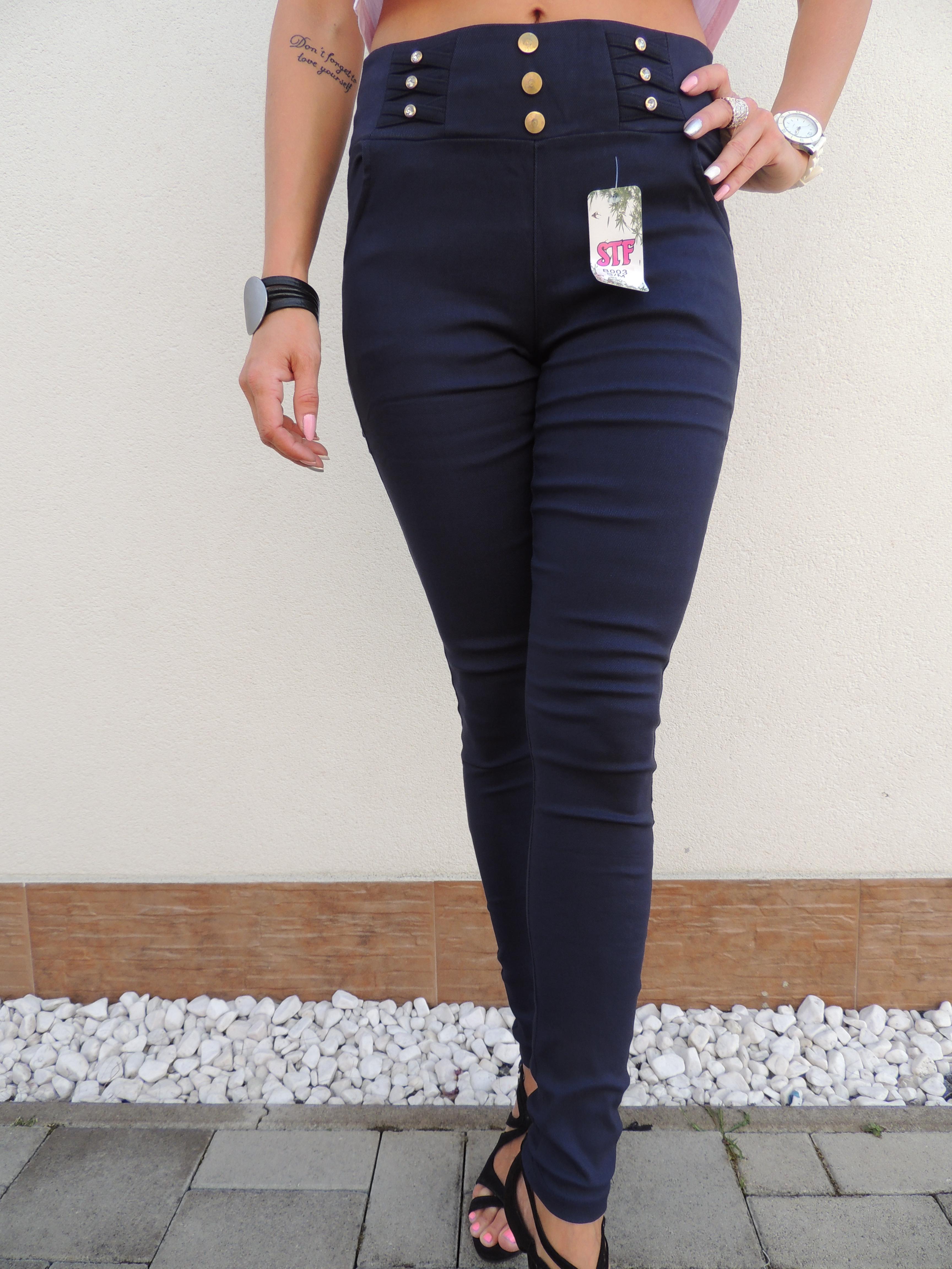 f95a54b78d4b Kompletné specifikácie. Dámske elegantné nohavice so zlatými gombíkmi.